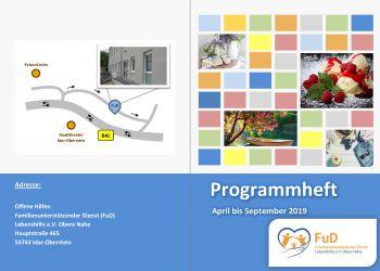 Das neue FuD-Programmheft April bis September 2019 ist fertig!